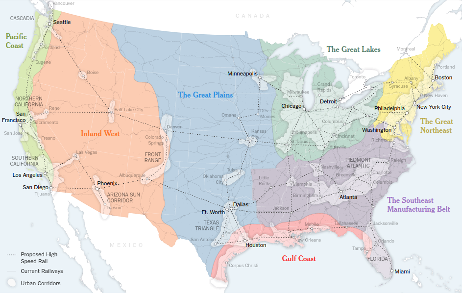 Map Of America In 50 Years.A New Map For America Nesawg